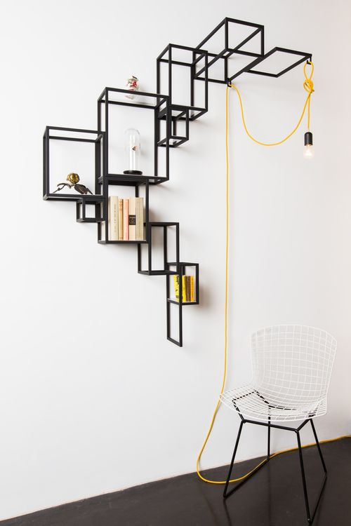 sculptural wall decor shelf #furniture_design
