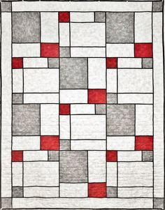 Modern Pop Two Quilt Pattern SLM-201 (intermediate, lap and throw)