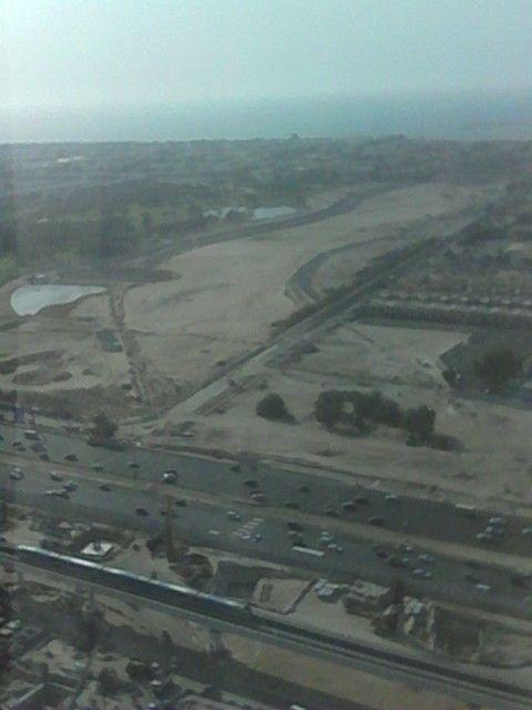 Dubai plane view