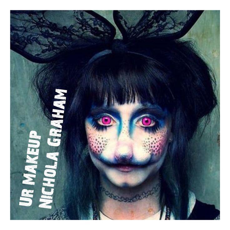 Easter makeup inspiration  makeup by me #nicholagraham #urmakeup #Easterbunny  #bunnyfacepaint #contactlenses #mua #makeupismyart