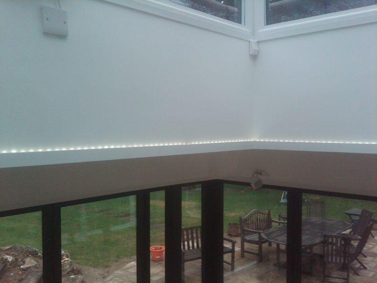 Led Strip Around Upstand To Roof Lantern Lighting