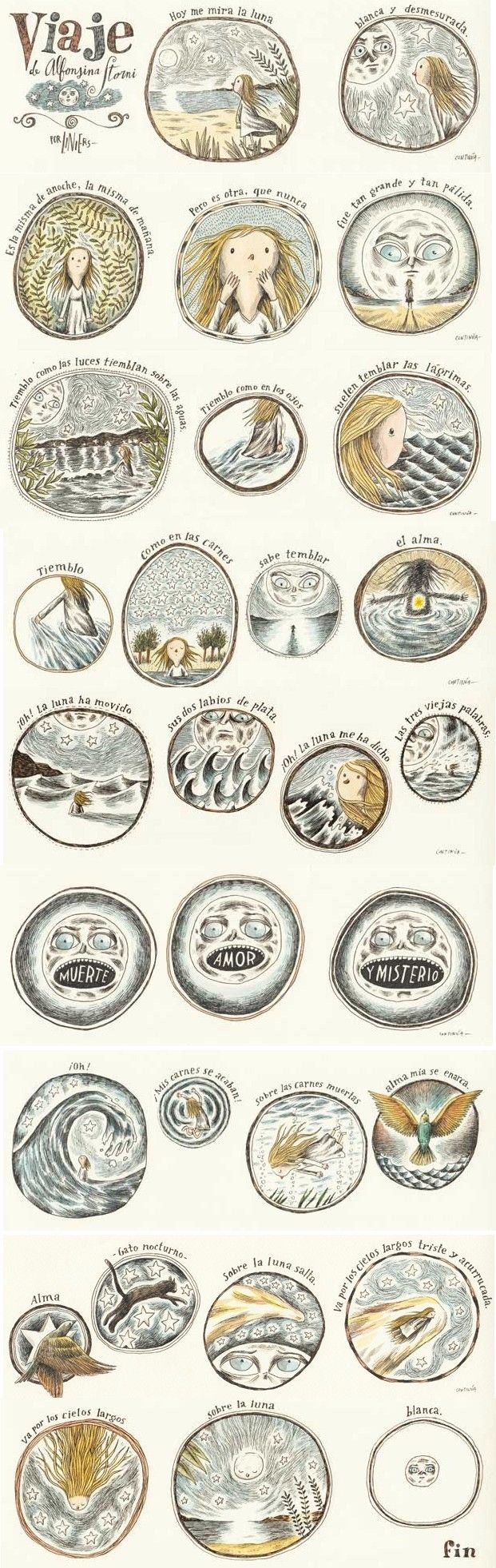 Alfonsina Storni ilustrada por Liniers