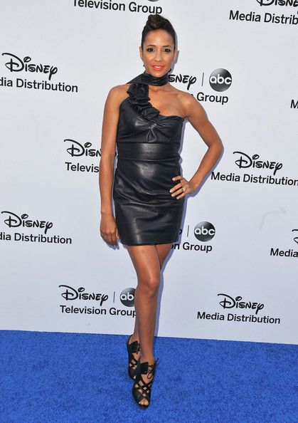 Dania Ramirez Leather Dress - Leather Dress Lookbook - StyleBistro