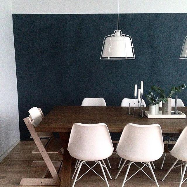 Vi har testet ut Jotun sin nye kalkmaling. #124m2 #interiørdesign #interiordesign #farger #colours #blå #blue #jotun #lady minerals #kalkmaling #st.paulsblue
