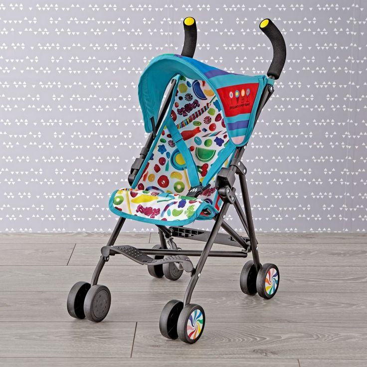 Shop Dylan's Candy Bar Doll Stroller.  Designed for dolls up to 16 inches in size, this Maclaren Junior Quest Doll Stroller features bright candy graphics designed by Dylan's Candy.