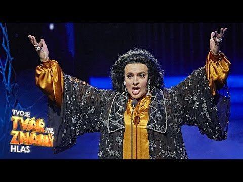 """Jan Cina jako Monserat Caballe - """"Hijo De La Luna""""   Tvoje tvář má známý hlas - YouTube"""