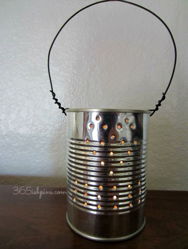 17 Best ideas about Can Lanterns on Pinterest Tin can lanterns, Tin can lights and Tin can ...