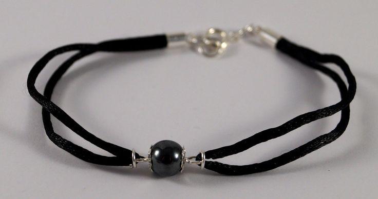 Black hematite bracelet. by TosTosia