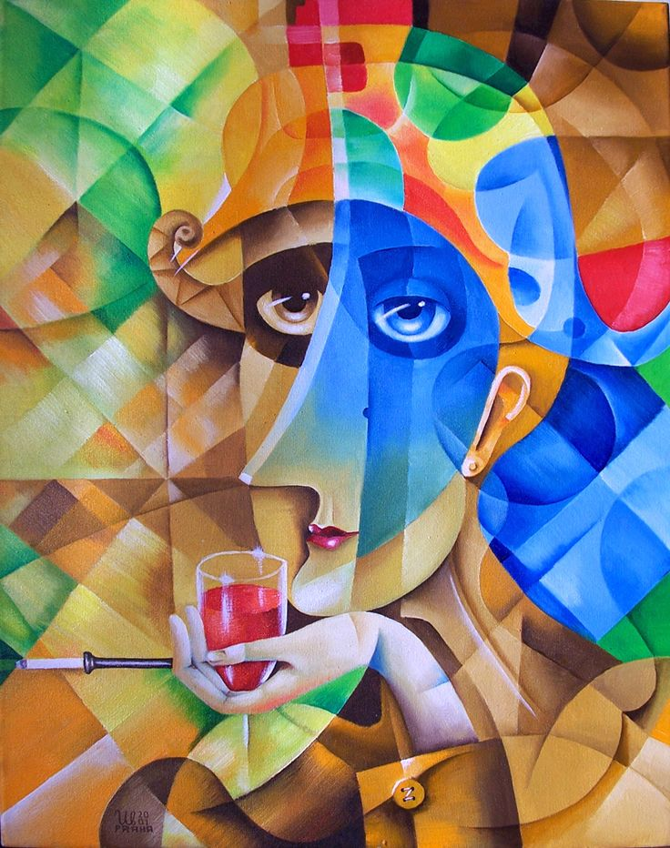 Harlequin by Eugene Ivanov, 2001 #eugeneivanov #cubism #avantgarde #cubist #artwork #cubist_artwork #abstract #geometric #association #futurism #futurismo #@eugene_1_ivanov