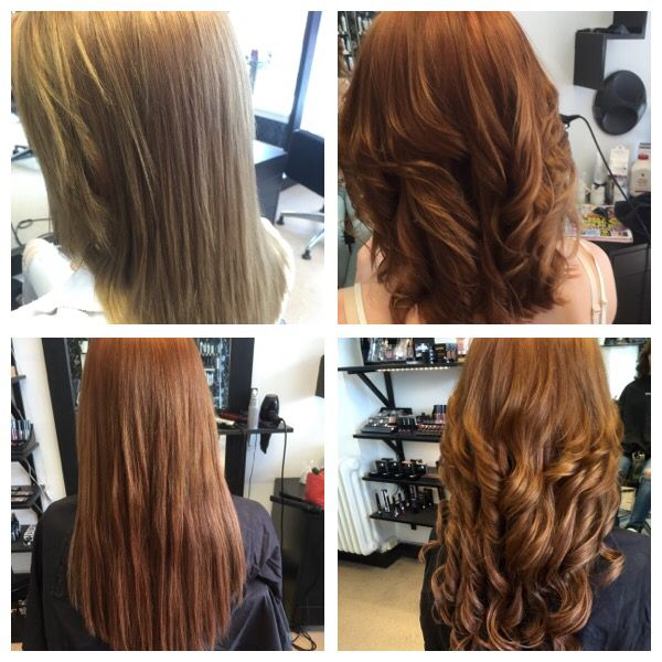 Balayage and tape hair extensions