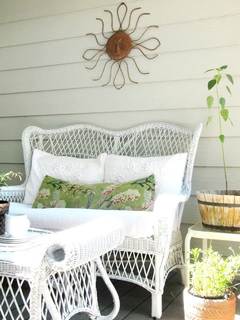 Charming Elegant Cottage ~ The Wicker House. Painting WickerPainting  FurnitureFurniture RedoRestoring ...