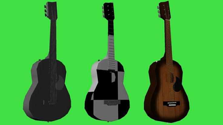 Guitarra: modelado, checker y textura. Por Kelly Huidobro