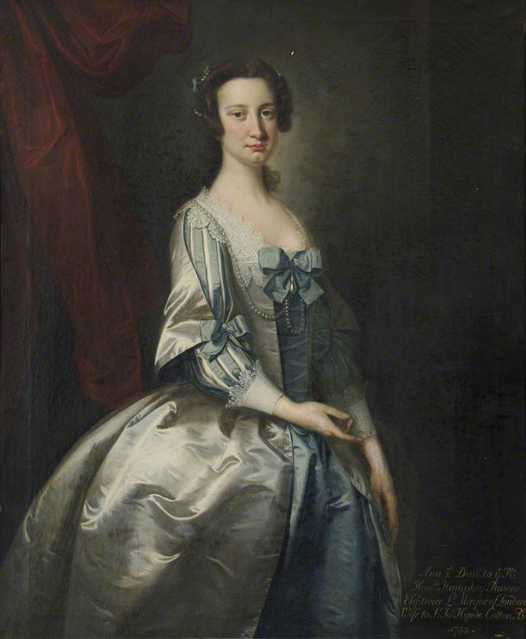 Anne Parsons, Daughter of Alderman Humphrey Parsons, Brewer and Lord Mayor of London, 1753.