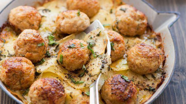 Recette de boulettes de veau au parmesan.