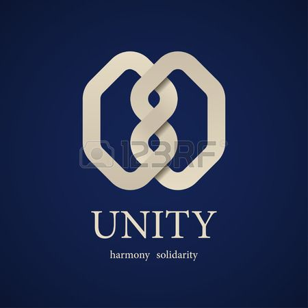 vector unity knot symbol design template Stock Vector