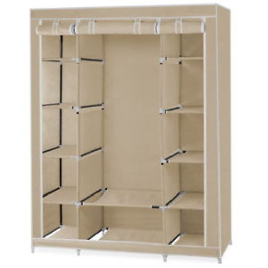 Portable storage closet organizer wardrobe for clothes for Armario zapatero amazon