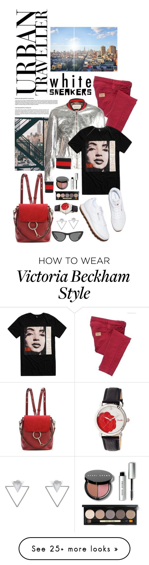 """""""So Fresh: White Sneakers"""" by shortyluv718 on Polyvore featuring See by Chloé, Gucci, Bobbi Brown Cosmetics, Chloé, Bertha, Eloquii, Eddie Borgo, Victoria, Victoria Beckham and whitesneakers"""