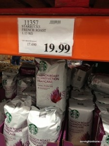 10 Things To Buy at Costco -If you're a Starbucks fan, you can buy the French Roast for…. Another great alternative is the medium roast from Kirkland (Costco's own brand). PSSSSST – it's roasted by Starbucks!! :D