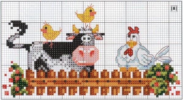 vaquinha-com-galinha-ponto-cruz.jpg (599×327)