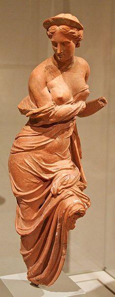 Aphrodite terracotta statuette - probably from Myrina, 2nd century BCE