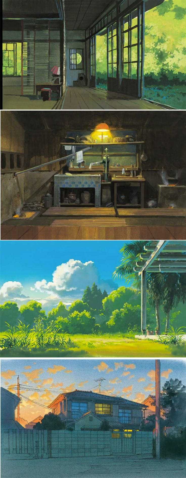 "Kazuo Oga concept art; ""If you get the chance-visit Studio Ghibli. These things are often pinned onto the studio walls! Astounding."""