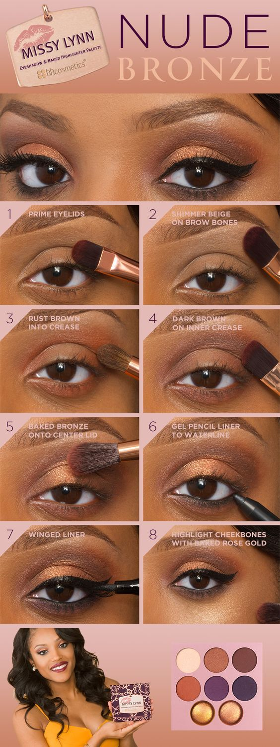 Nude Brown Eyeshadow How-To  Black Girl Hair  Eye Makeup -1319