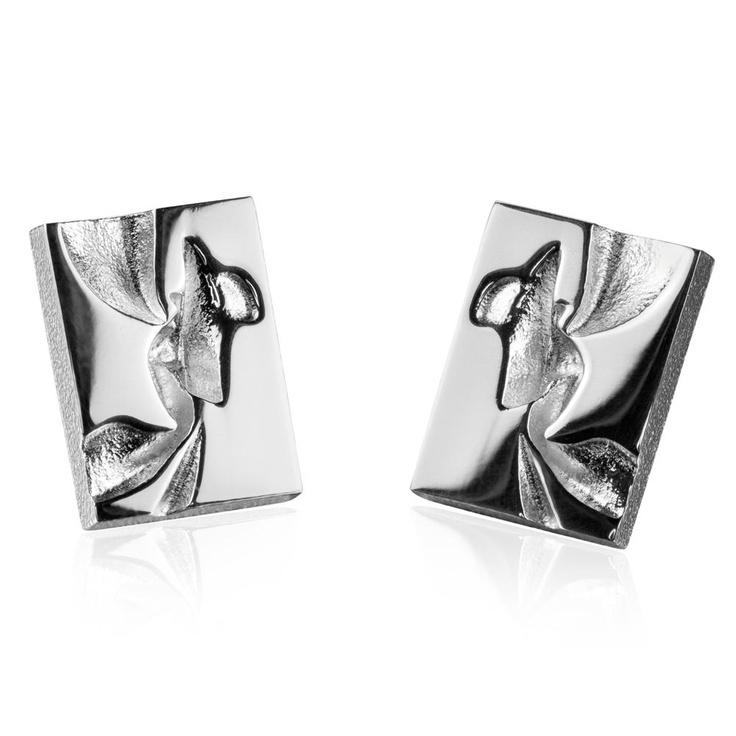 AALLOT  Design Björn Weckström / Silver Earrings / Lapponia Jewelry / Handmade in Helsinki