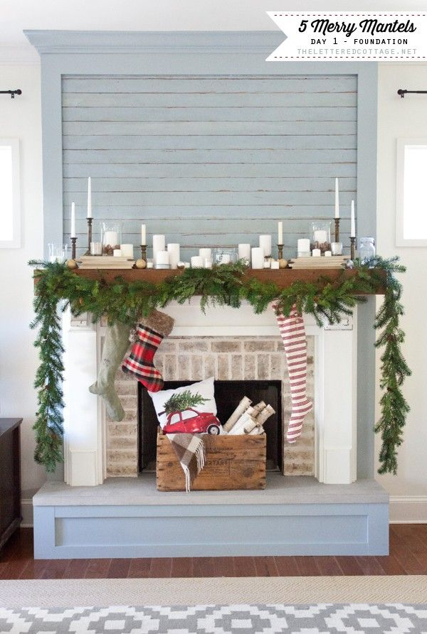 I love the wood board fireplace. I love the pleasant pop off color with white walls and white mantel.