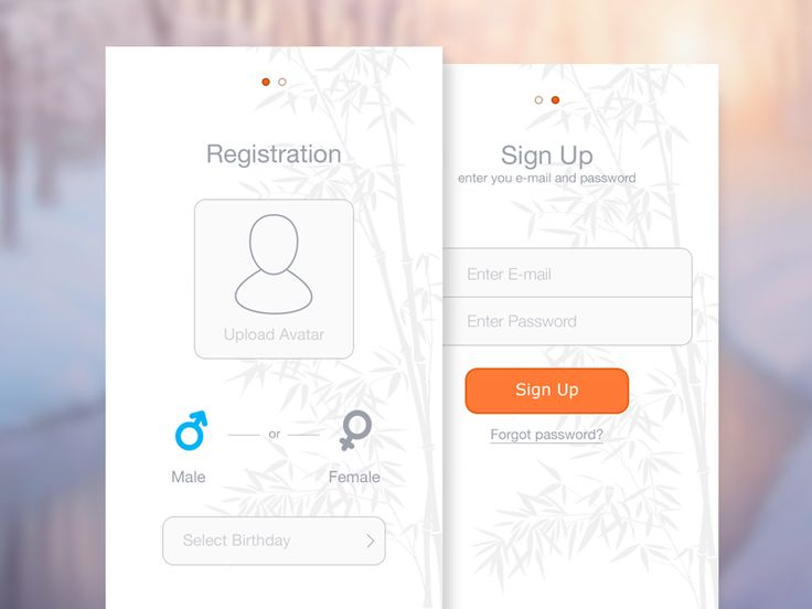 Registration/SignUp Screens by Ramotion.com  #UX #UI #interface #app #appdesign