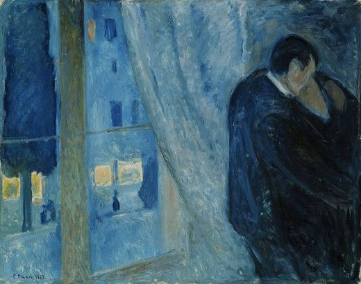 Edvard Munch, Kiss by the Window 1892