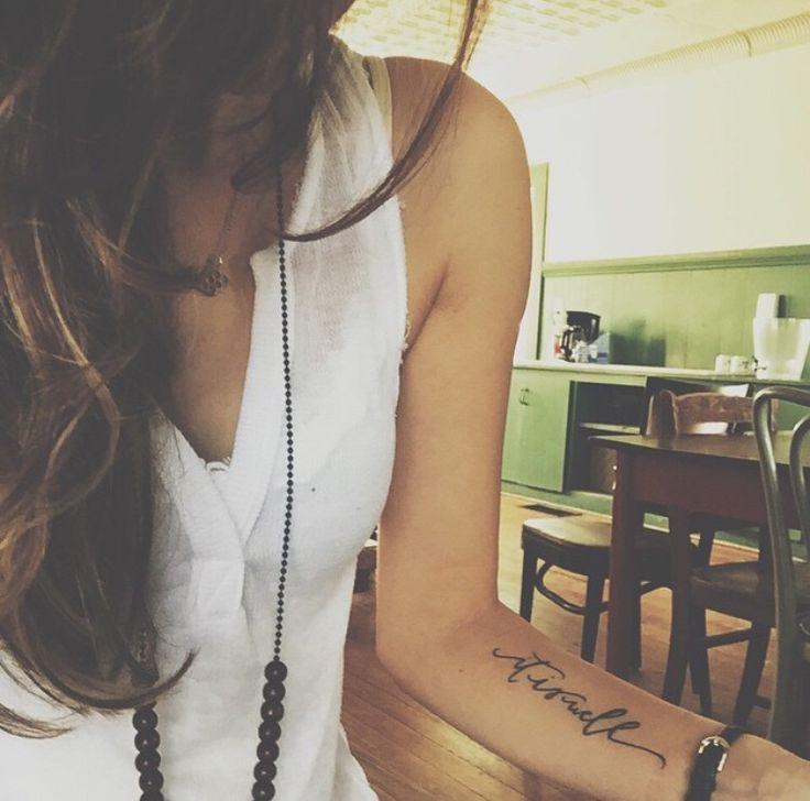Best 25+ Forearm Script Tattoo Ideas On Pinterest