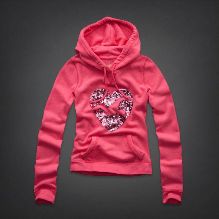 Hollister pink hoodie