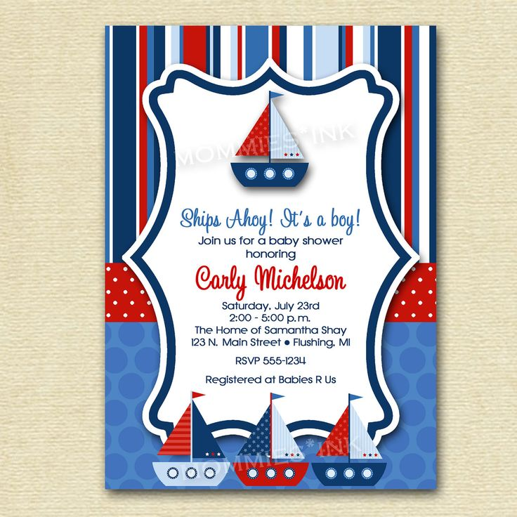 10 best Impressive Nautical Baby Shower Invitations Design images on