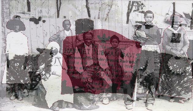 Karen Hampton - Harriet Tubman, with photo by John Bentham