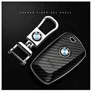 BMW Smart Key FOB Silicone Case Cover Protector Holder Car Flip Remote Key Shell Case Cover (Just empty key shell, No Chips Inside) 3 Buttons (Black): Home & Kitchen