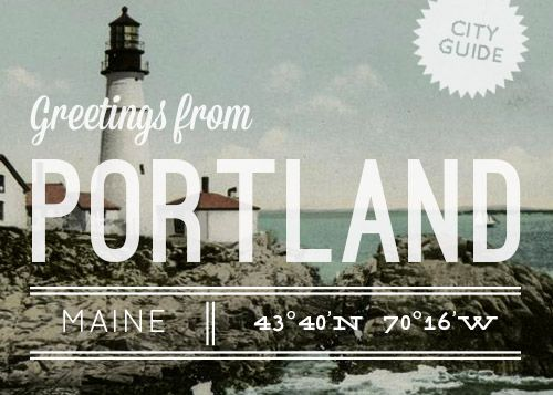 Beautiful Portland, Maine is the focus of today's D*S City Guide! #portland #maine