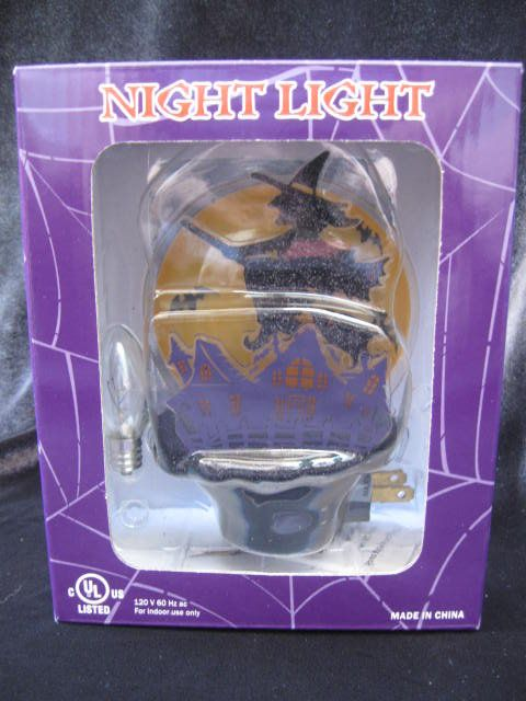 Flying Witch Halloween Night Light
