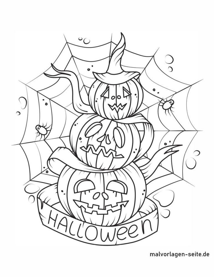Ausmalbilder Halloween   Halloween ausmalbilder, Kürbis ...