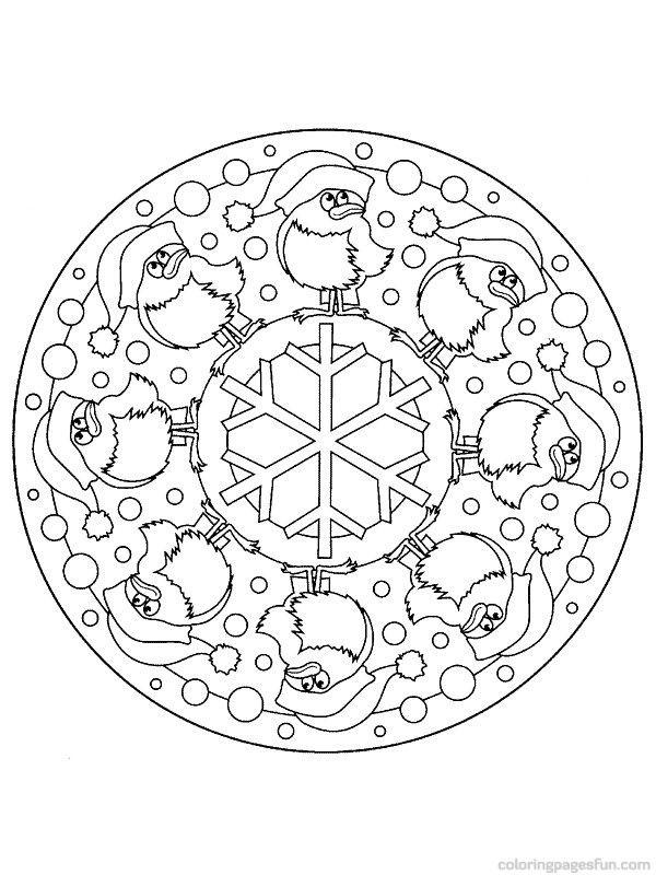 Free Printable Mandala Coloring Pages | 2013 mandala christmas 244 views mandala christmast coloring pages ...