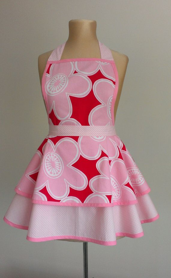 Anyone that loves pink will love this. Hey, I found this really awesome Etsy listing at https://www.etsy.com/au/listing/264309577/womans-apron-pink-apron-maids-apron