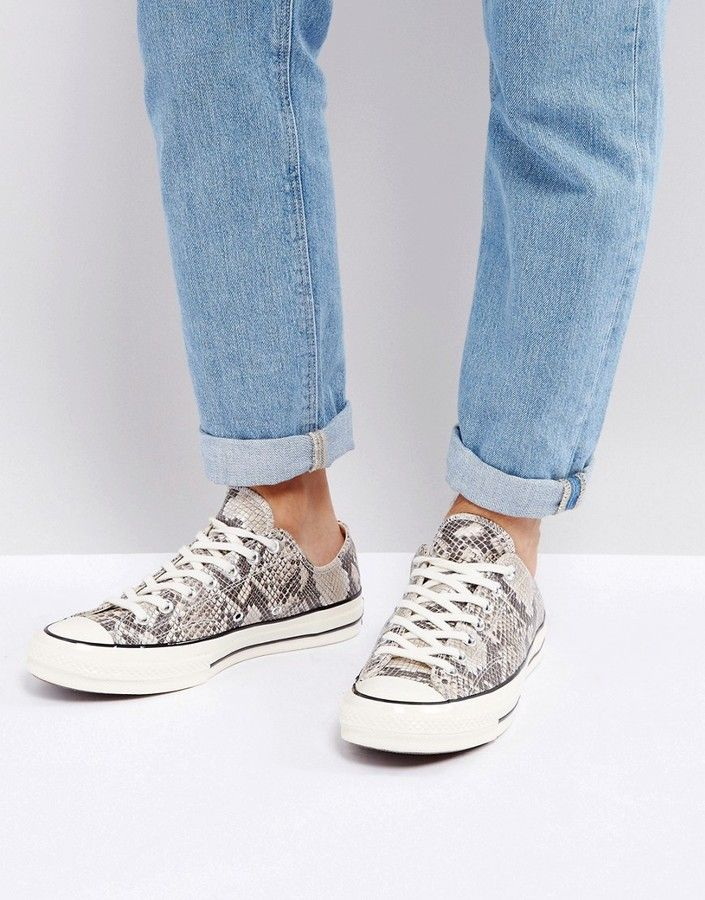 Converse Chuck Taylor All Star '70 Snake Pack Ox Sneakers In Brown 158857C