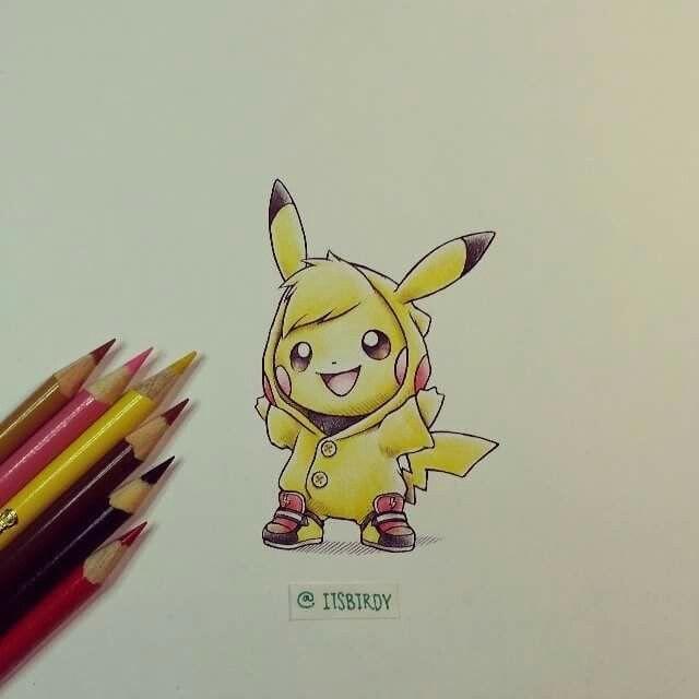 Cute colored pencil drawing.   Pokemon drawings, Pokemon ...