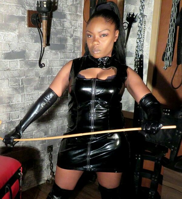 black mistress big boobs - Serious Goddess with a Cane