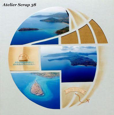"""Atelier Scrap 38: Gabarit """"Autour du monde"""""""