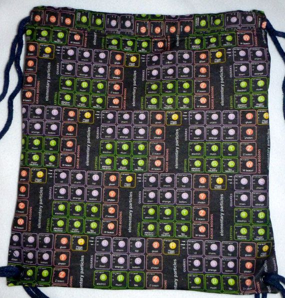 New   Elementary Particles Backpack/tote by Craftyscientists