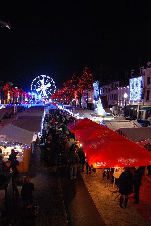 Marché de Noël à Bruxelles, Belgique.