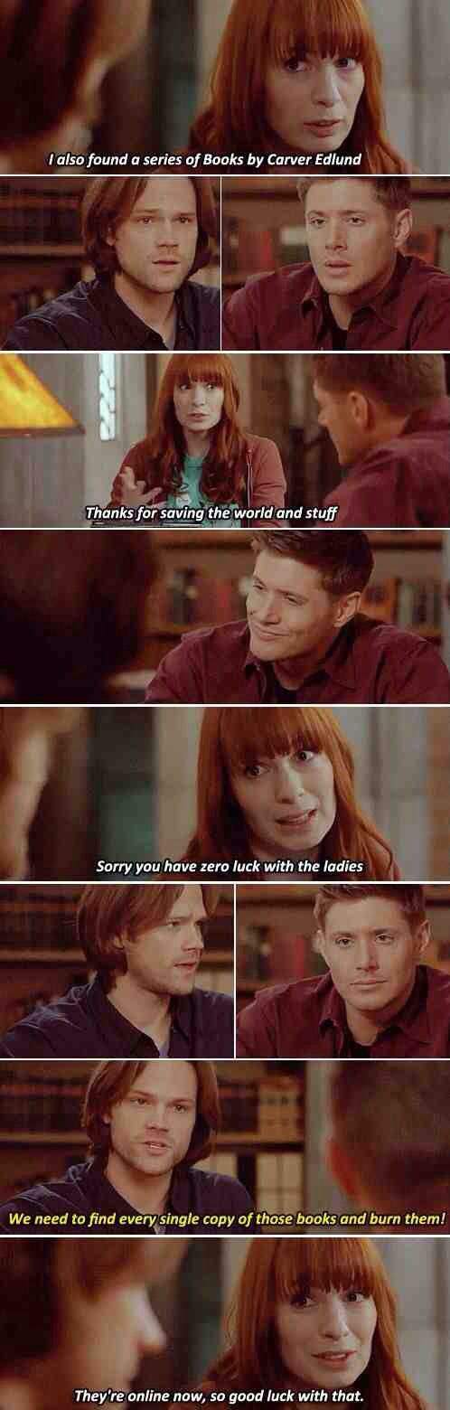 I love their absolute hate of those books! XD #Supernatural