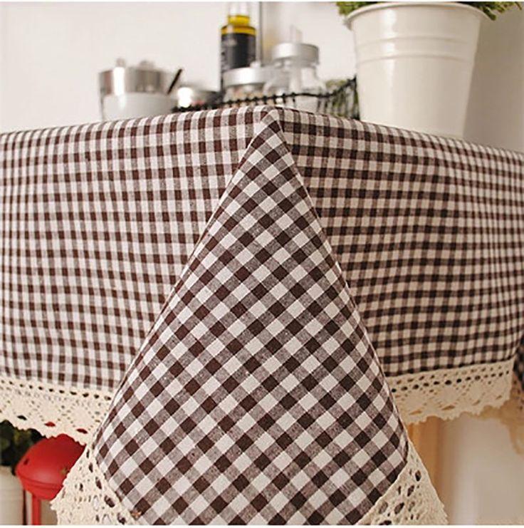 Linen Table Cloth Woven Printed Korean Plaid Home/Outdoor/Party Size:60*60-140*220 Christmas Toalha De Manteles Para Mesa Nappe #Affiliate