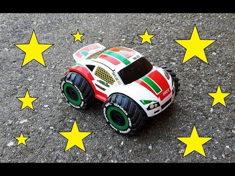 RC toy car video driving and crashing with toy trucks. Video  for children.