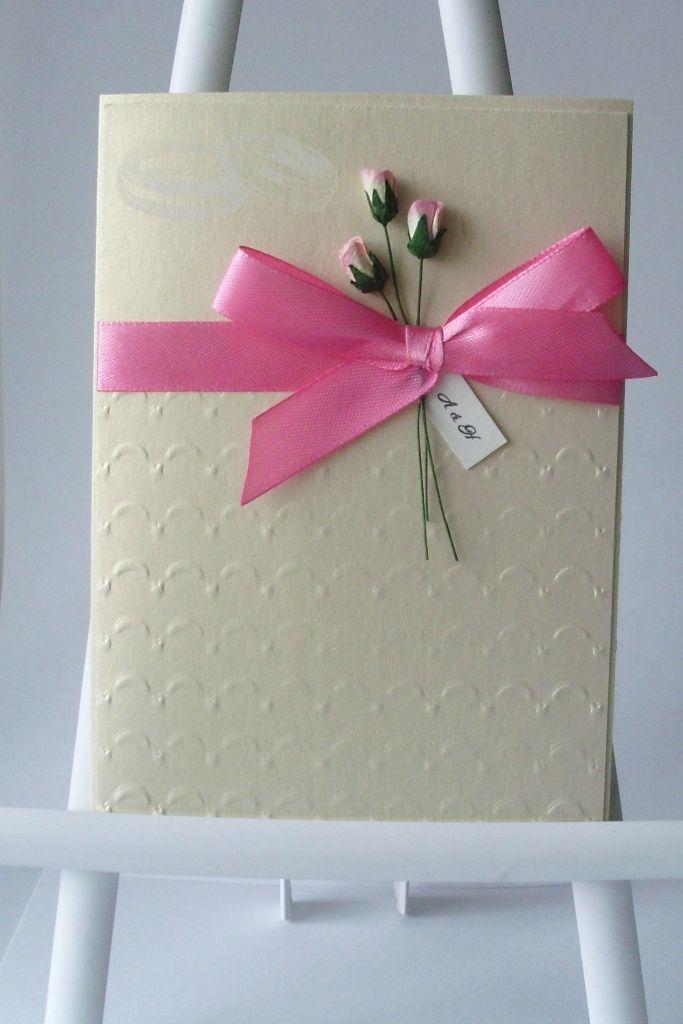 Elegant Handmade Wedding Invitation Card Idea